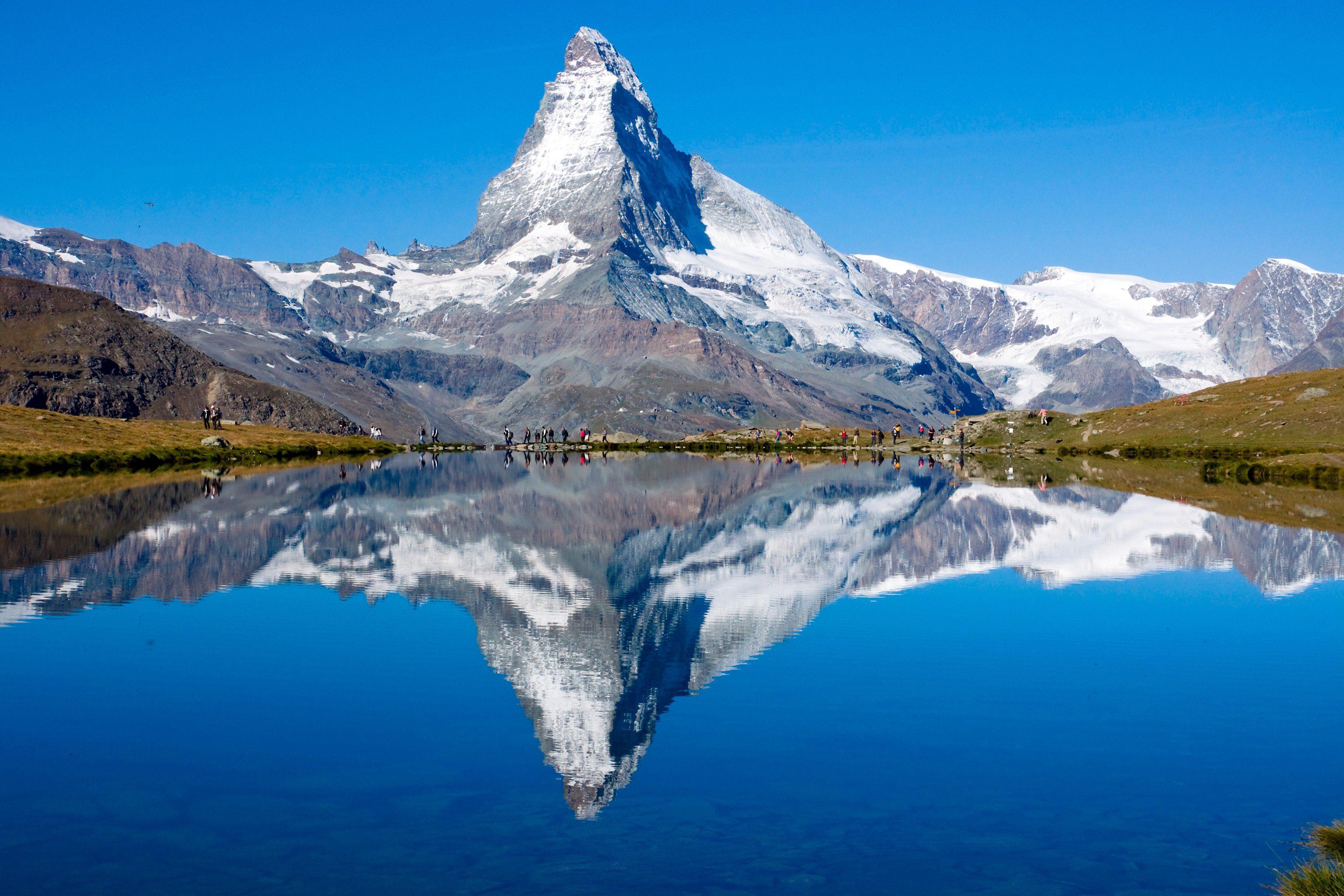 PAPERMOON Fototapete »Matterhorn«, BlueBack, 7 Bahnen, 350 x 260 cm