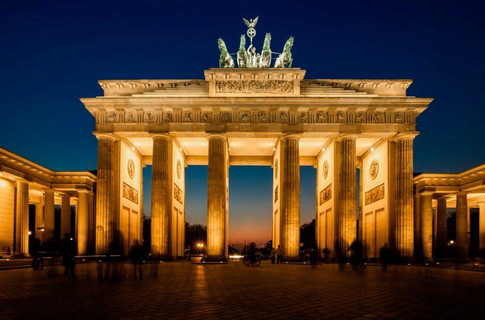 PAPERMOON Fototapete »Brandenburg Gate«, BlueBack, 7 Bahnen, 350 x 260 cm