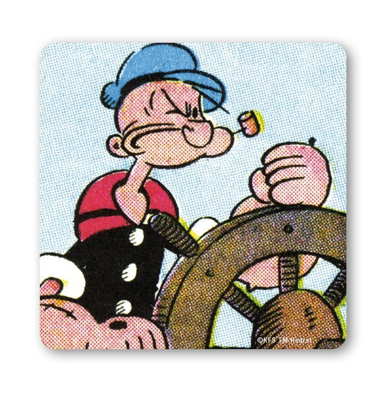 LOGOSHIRT Untersetzer mit witzigem Popeye-Motiv