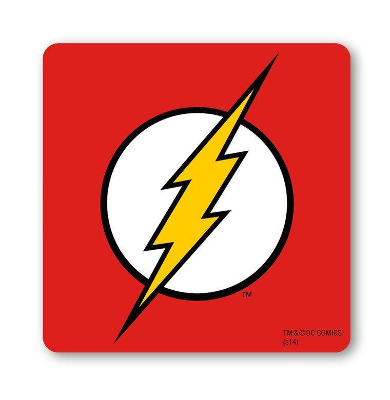 LOGOSHIRT Untersetzer mit The Flash-Logo