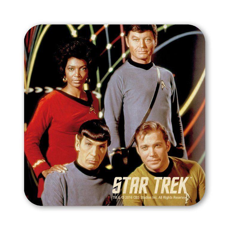 LOGOSHIRT Untersetzer mit Star Trek-Crew