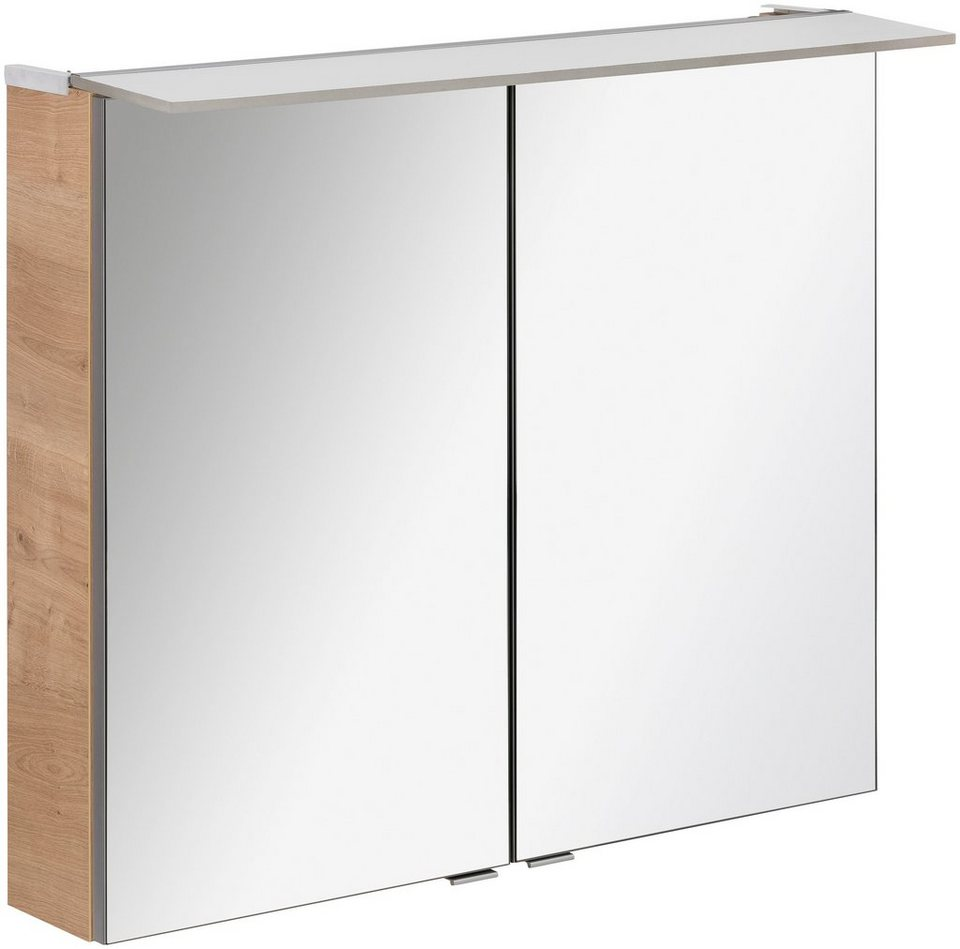 fackelmann spiegelschrank pe 80 ast eiche breite 80 cm 2 t ren online kaufen otto. Black Bedroom Furniture Sets. Home Design Ideas