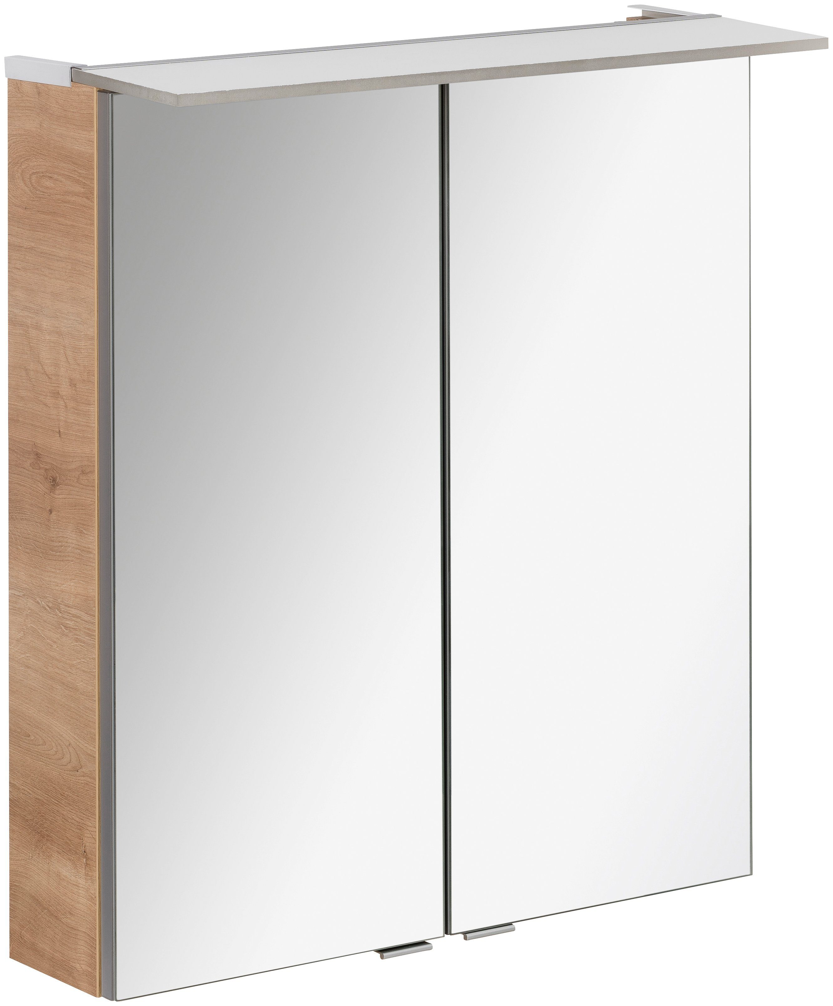FACKELMANN Spiegelschrank »PE 60 - Ast-Eiche«, Breite 60 cm, 2 Türen