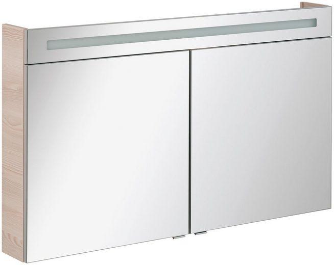 FACKELMANN Spiegelschrank »CL 120 - Alaska-Esche«, Breite 120 cm, 2 Türen