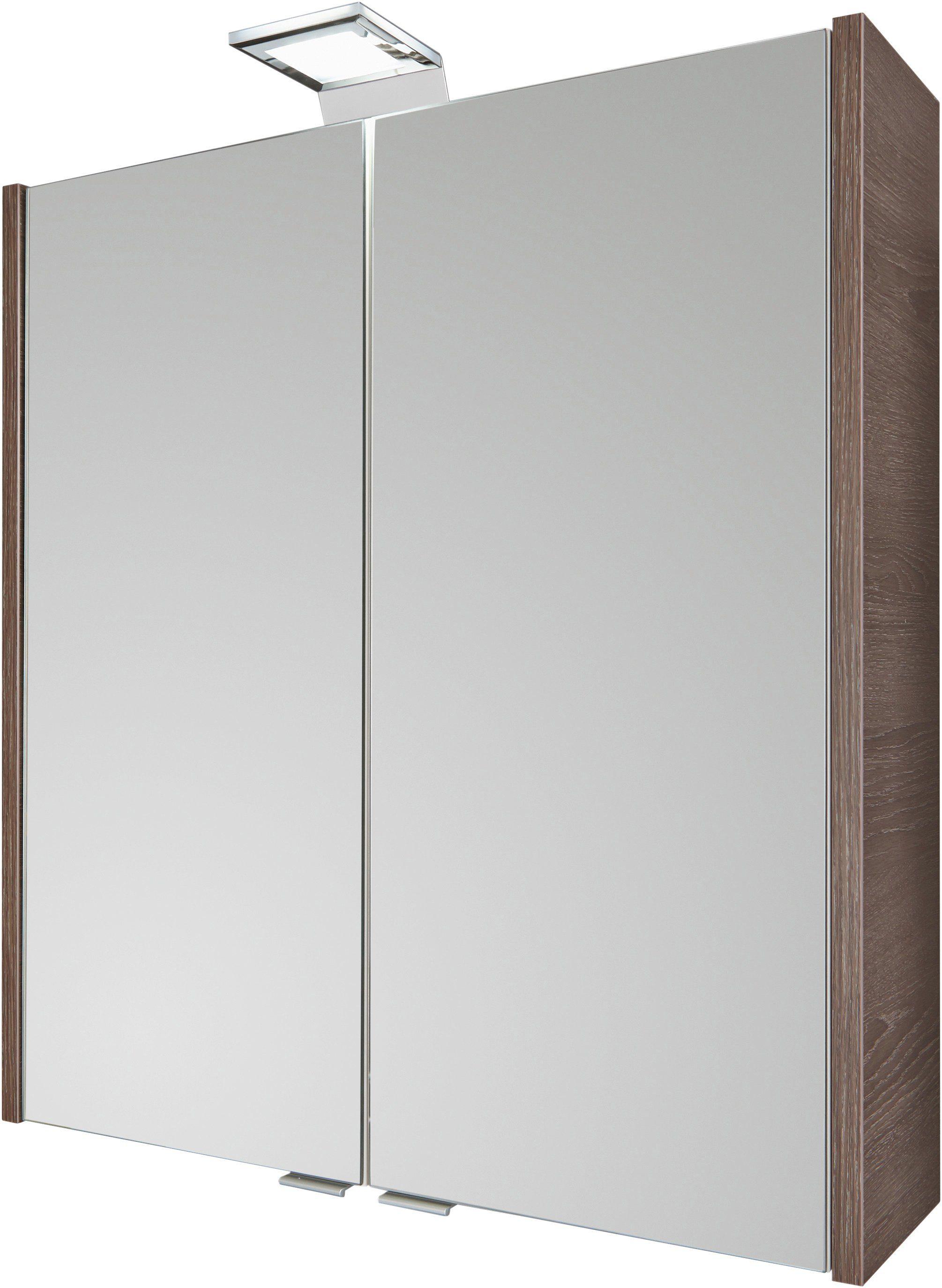 FACKELMANN Spiegelschrank »Malua - Cognac«, Breite 60 cm, 2 Türen