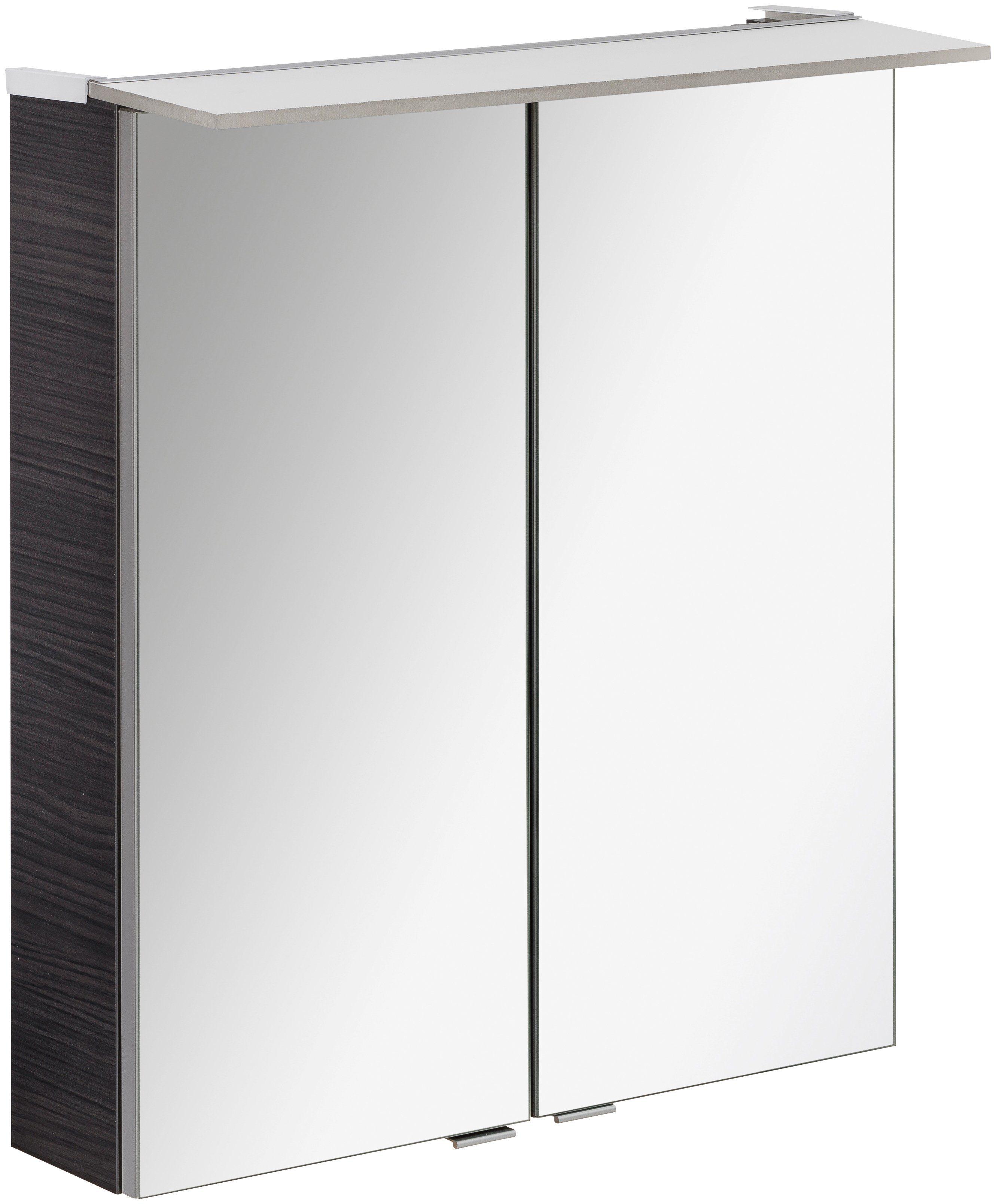 FACKELMANN Spiegelschrank »PE 60 - Dark-Oak«, Breite 60 cm, 2 Türen
