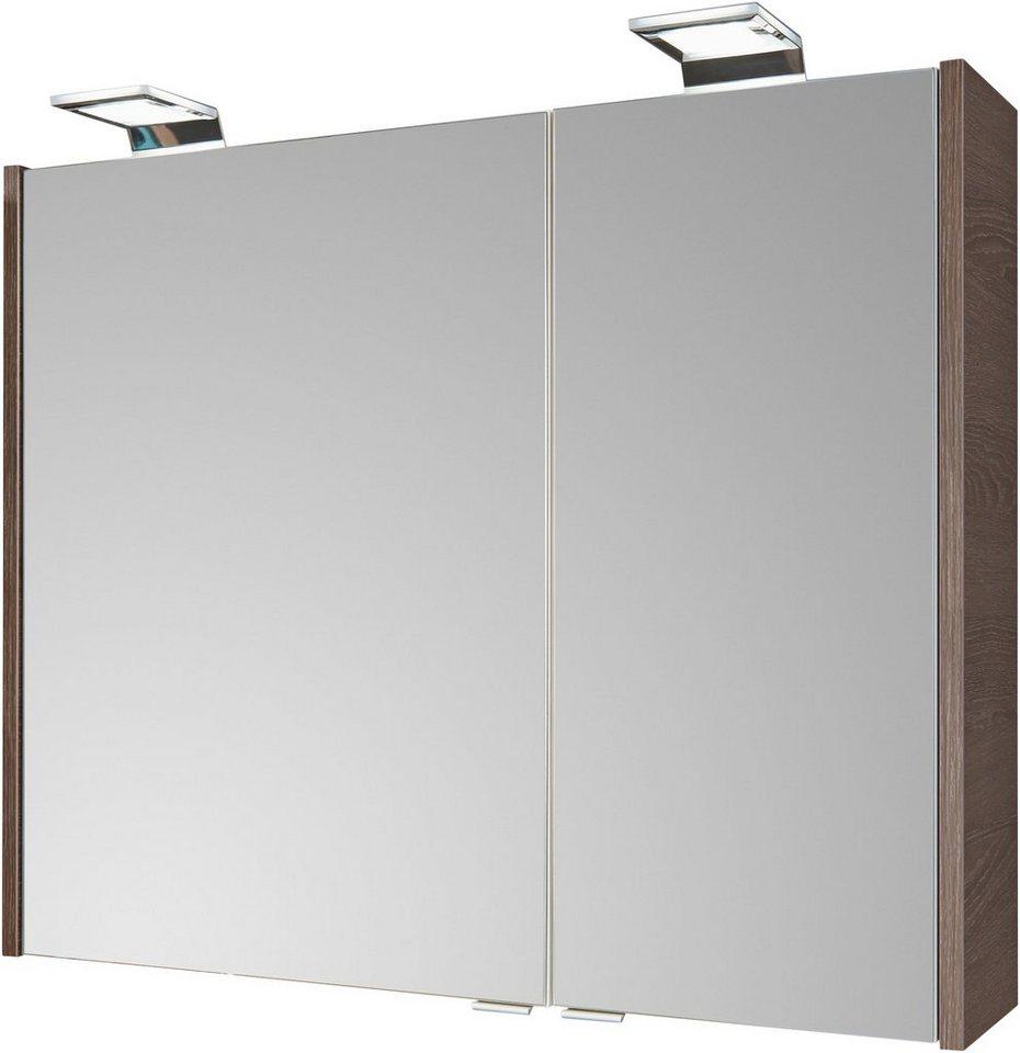 FACKELMANN Spiegelschrank »Malua - Eiche«, Breite 80 cm, 2 Türen ...