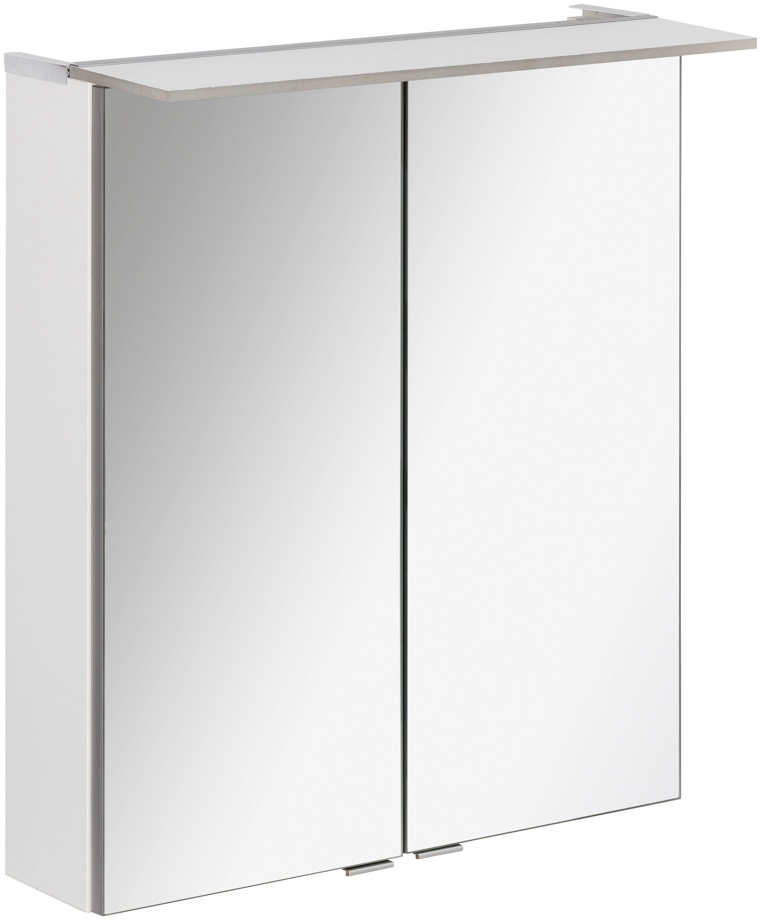 FACKELMANN Spiegelschrank »PE 60 - weiß«, Breite 60 cm, 2 Türen