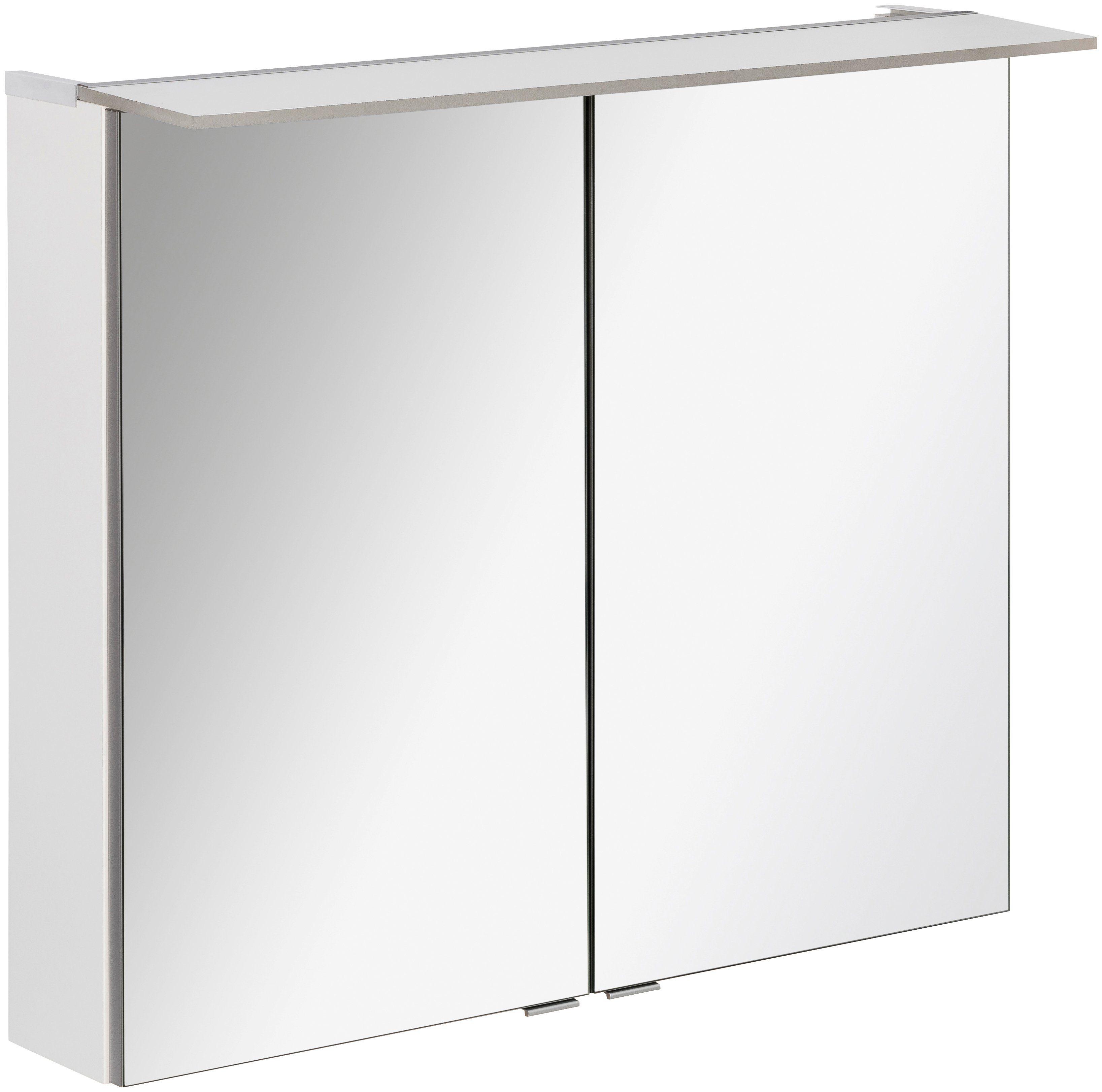 FACKELMANN Spiegelschrank »PE 80 - weiß«, Breite 80 cm, 2 Türen