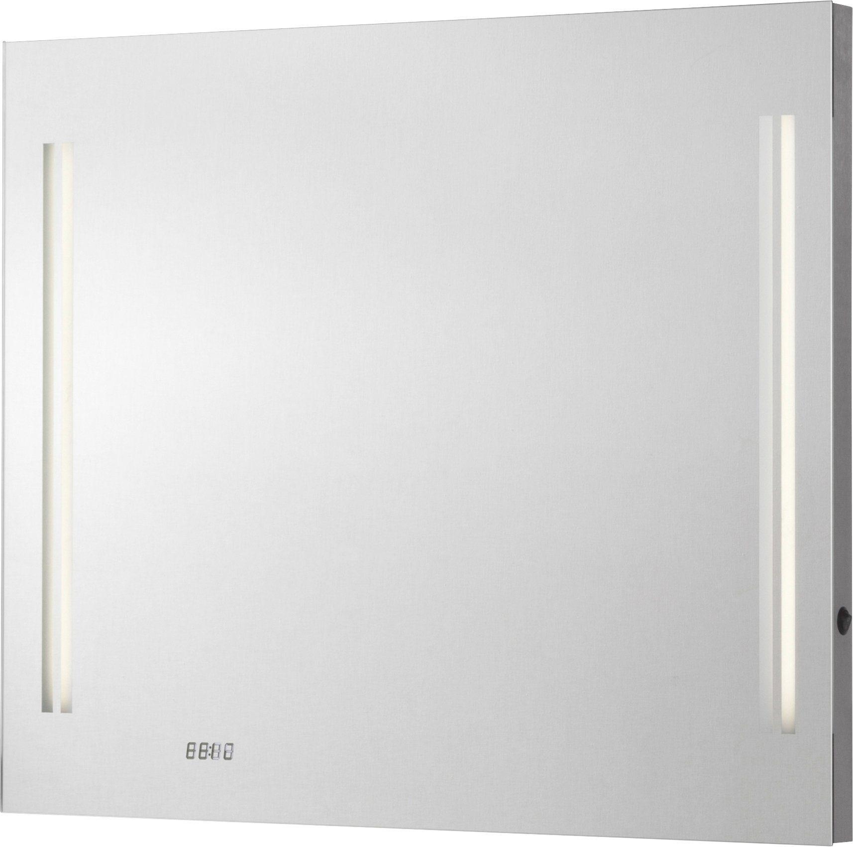 FACKELMANN Spiegelelement »LG80«, Breite 80 cm, mit Uhr