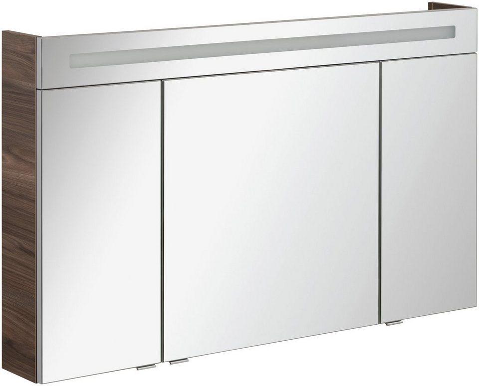 FACKELMANN Spiegelschrank »CL 120 - Ulme-Madera«, Breite 120 cm, 3 ...