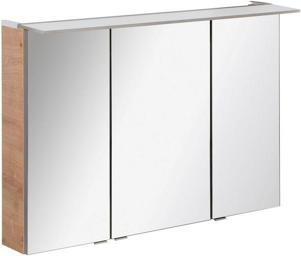 FACKELMANN Spiegelschrank »PE 100 - Ast-Eiche«, Breite 100 cm, 3 Türen