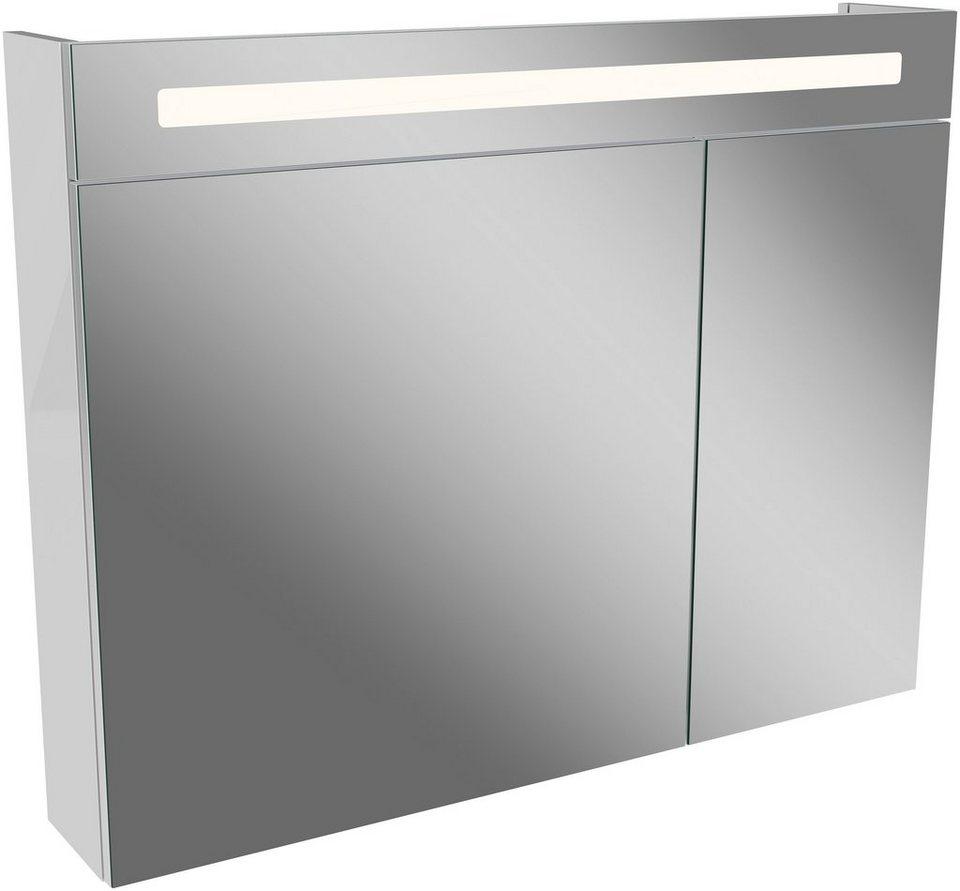 fackelmann spiegelschrank ln 90 wei breite 90 cm 2 t ren online kaufen otto. Black Bedroom Furniture Sets. Home Design Ideas