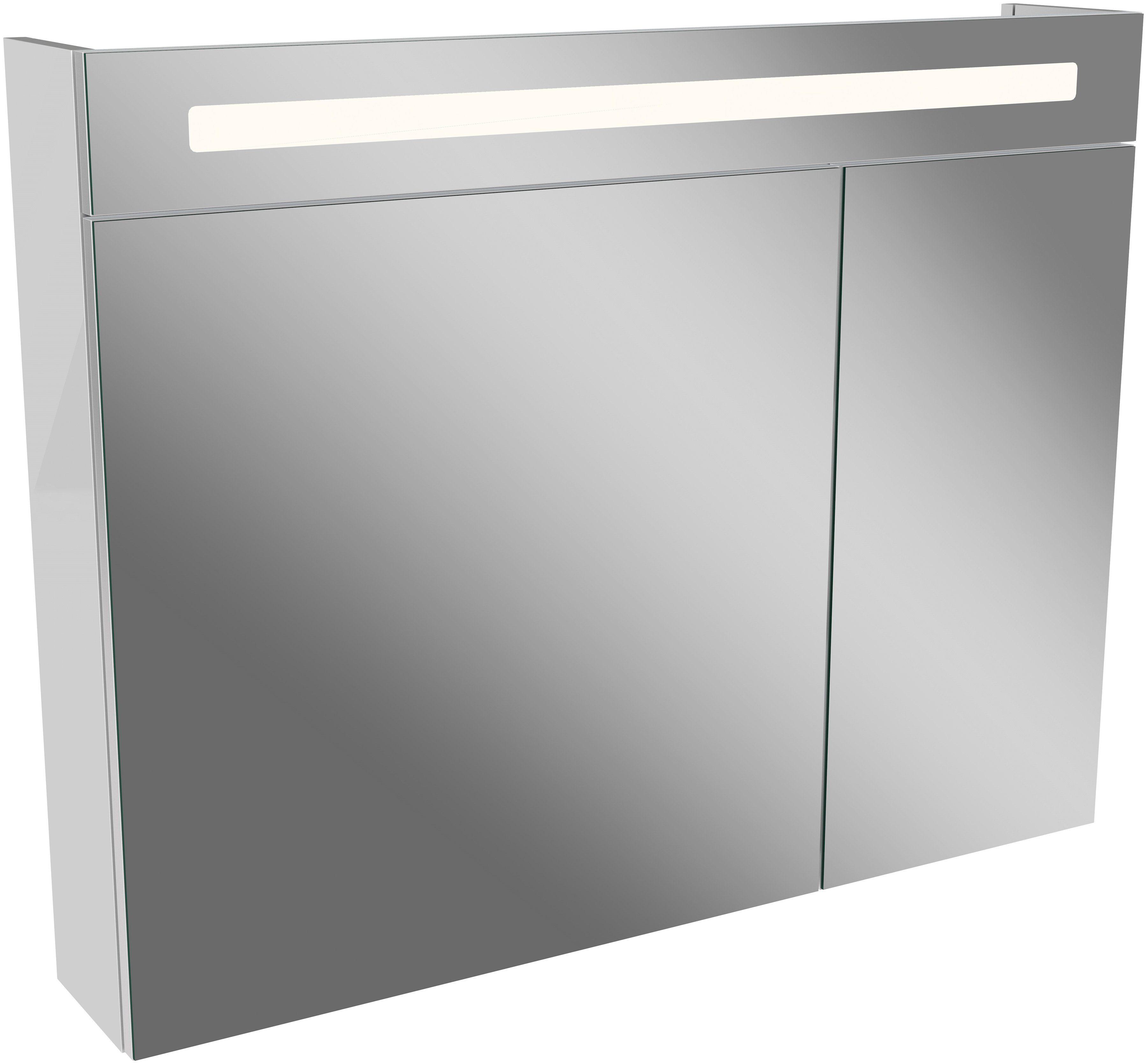 FACKELMANN Spiegelschrank »LN 90 - weiß«, Breite 90 cm, 2 Türen