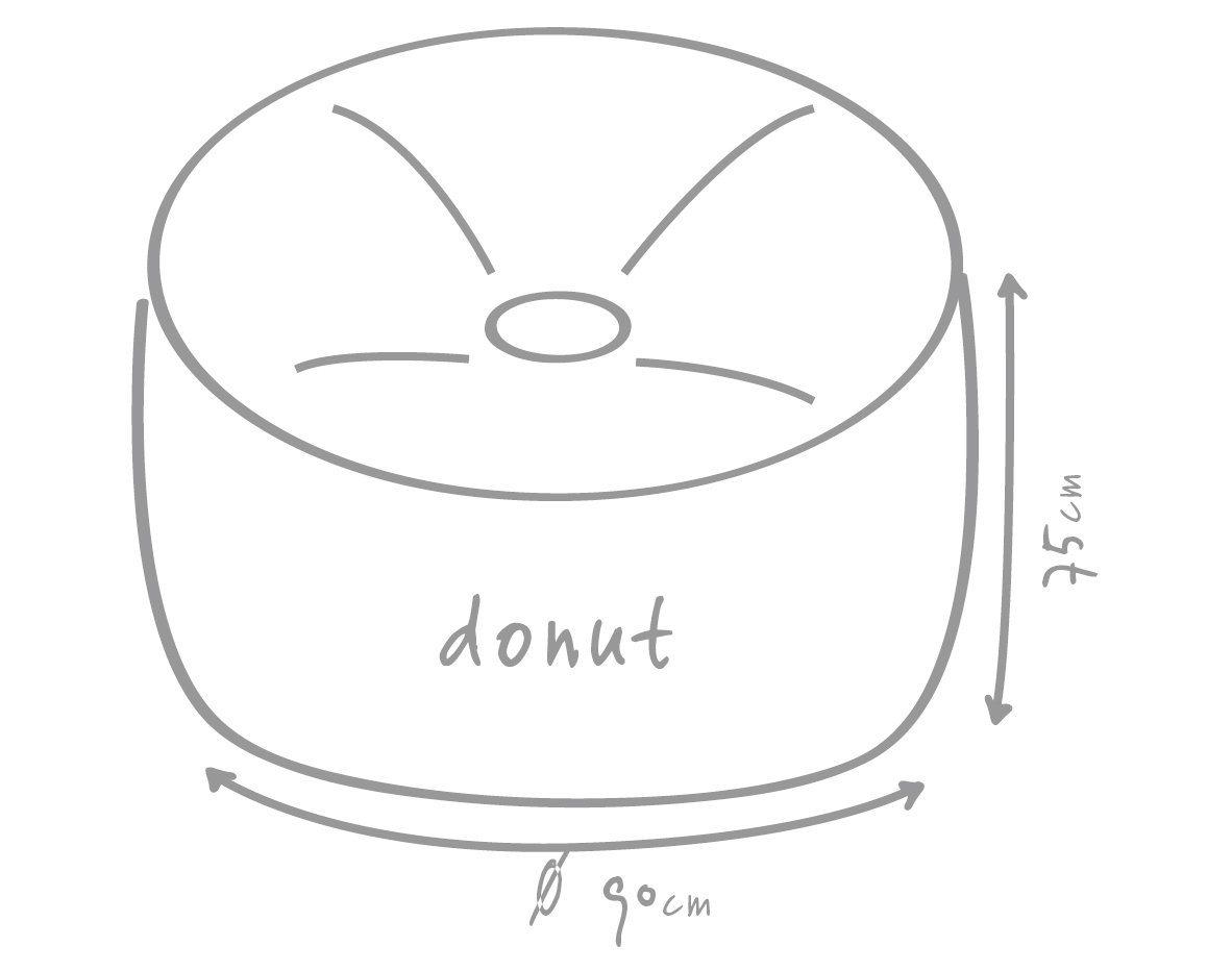 OUTBAG Sitzsack »Donut Plus«, wetterfest, für den Außenbereich, Ø: 90 cm | Wohnzimmer > Sessel > Sitzsaecke | Polyester | OUTBAG