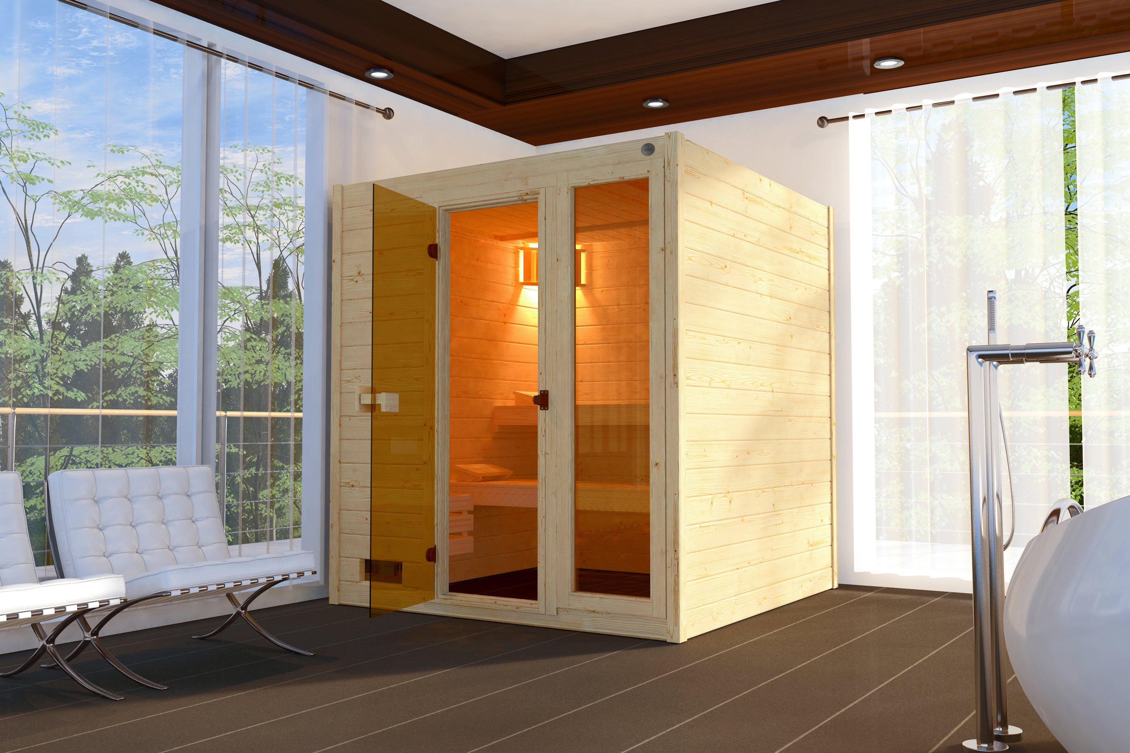 WEKA Sauna »Lars Trend 2«, 187x187x203,5cm, 38 mm, 7,5-KW-Ofen