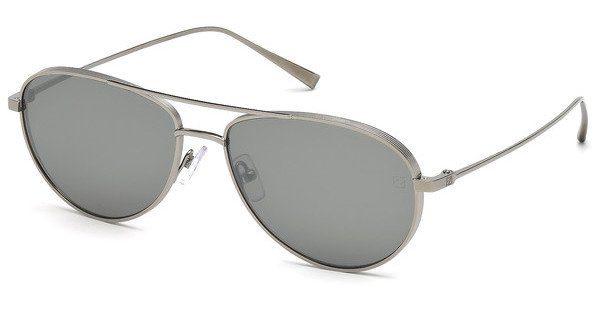 Ermenegildo Zegna Herren Sonnenbrille » EZ0072«, grau, 12C - grau/grau