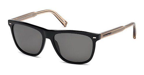 Ermenegildo Zegna Herren Sonnenbrille » EZ0041«, schwarz, 01D - schwarz/grau