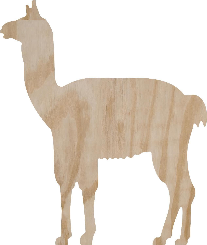 """Holzdekoration """"Alpaka"""" 33 cm x 26 cm"""