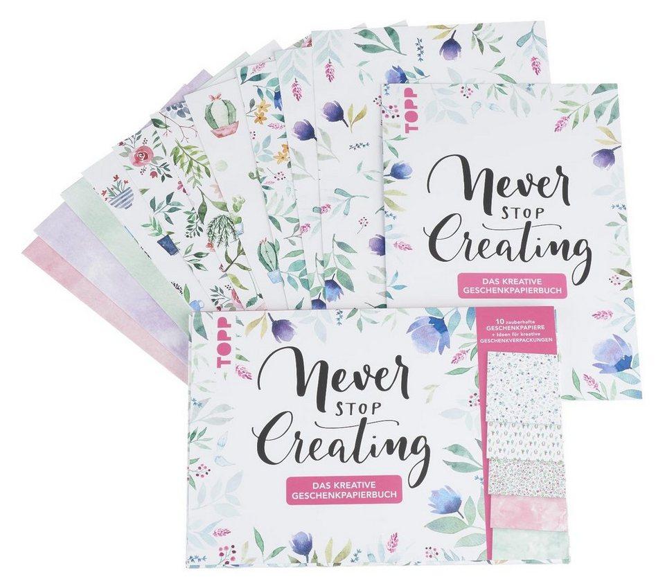 """Topp Buch """"Never stop creating kreative - Das kreative creating Geschenkpapierbuch"""" online kaufen 84e35f"""