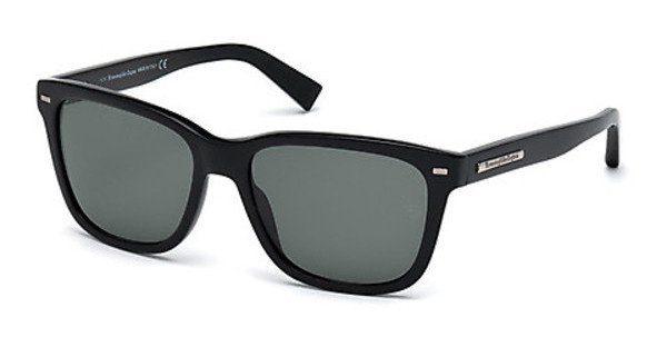 Ermenegildo Zegna Herren Sonnenbrille » EZ0002«, schwarz, 01N - schwarz/grün