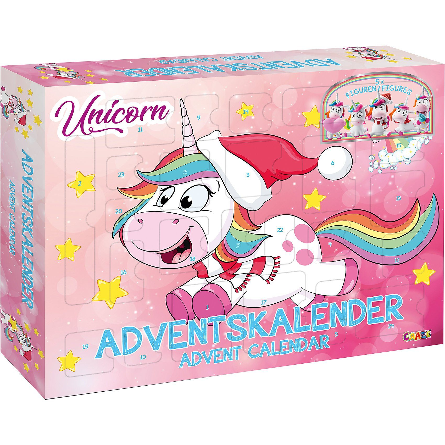 CRAZE Adventskalender UNICORN 2018