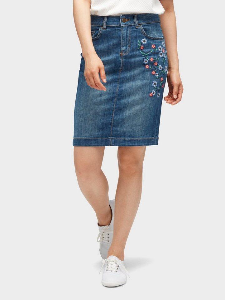 online retailer 9587f a06c1 TOM TAILOR Jeansrock »Jeans-Rock mit Blumen-Stickerei«