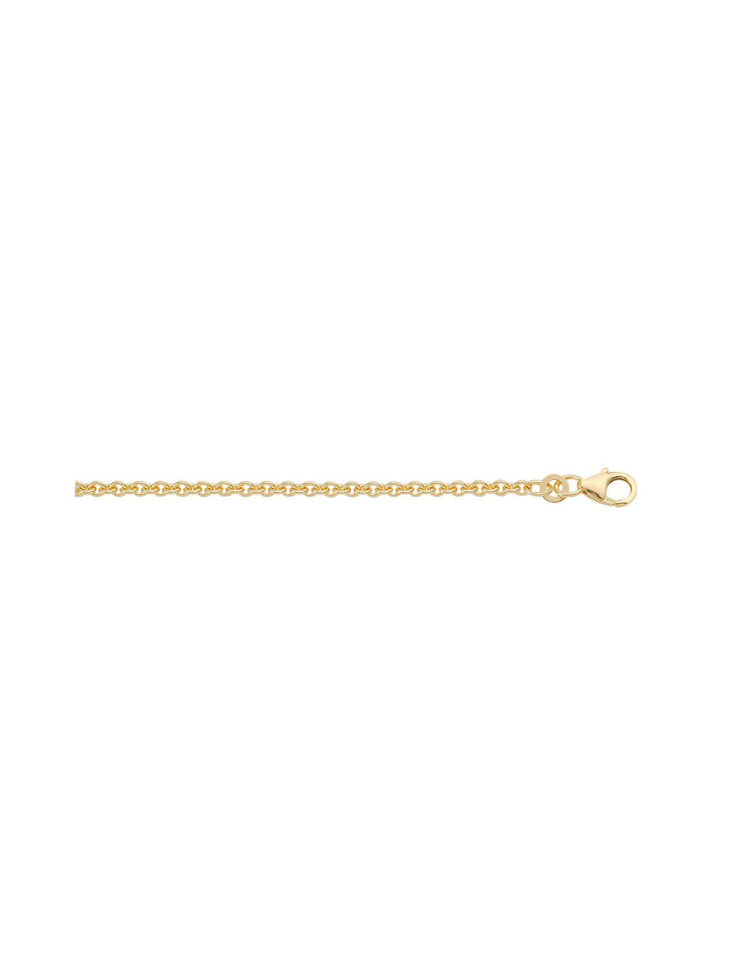 Adelia´s Silberkette »Silber Halsketten« 925 Sterling Silber vergoldet Ankerkette rund 1,6 mm