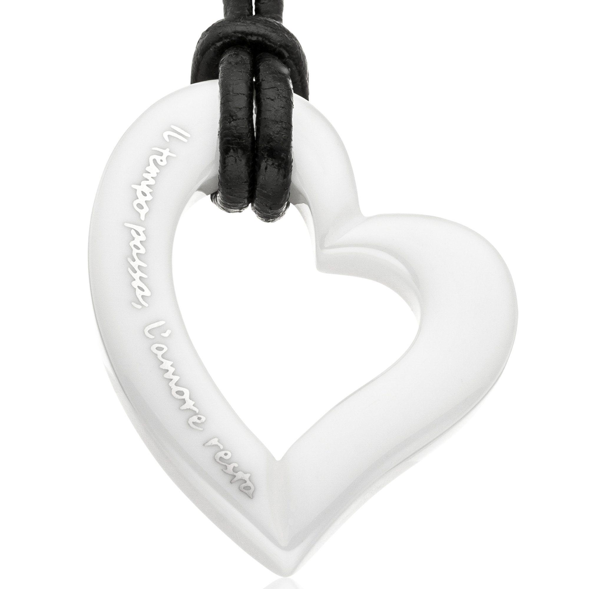 Gilardy Anhänger mit Kette »Keramik Herz White« | Schmuck > Halsketten > Herzketten | White - Weißgold | Gilardy