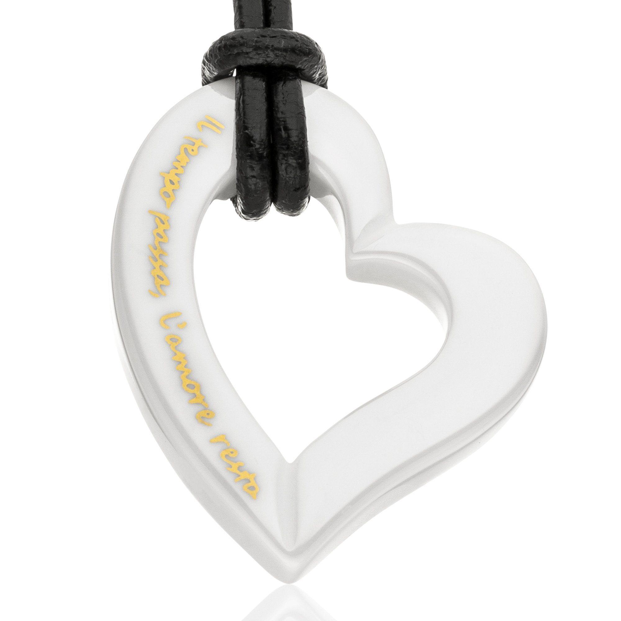 Gilardy Anhänger mit Kette »Keramik Herz White« | Schmuck > Halsketten > Herzketten | White | Gilardy