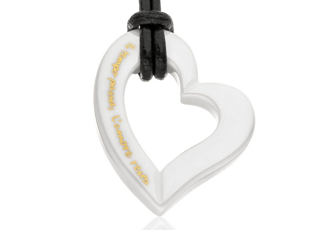 Gilardy Anhänger mit Kette »Keramik Herz White«   Schmuck > Halsketten > Herzketten   Weiß   Gilardy