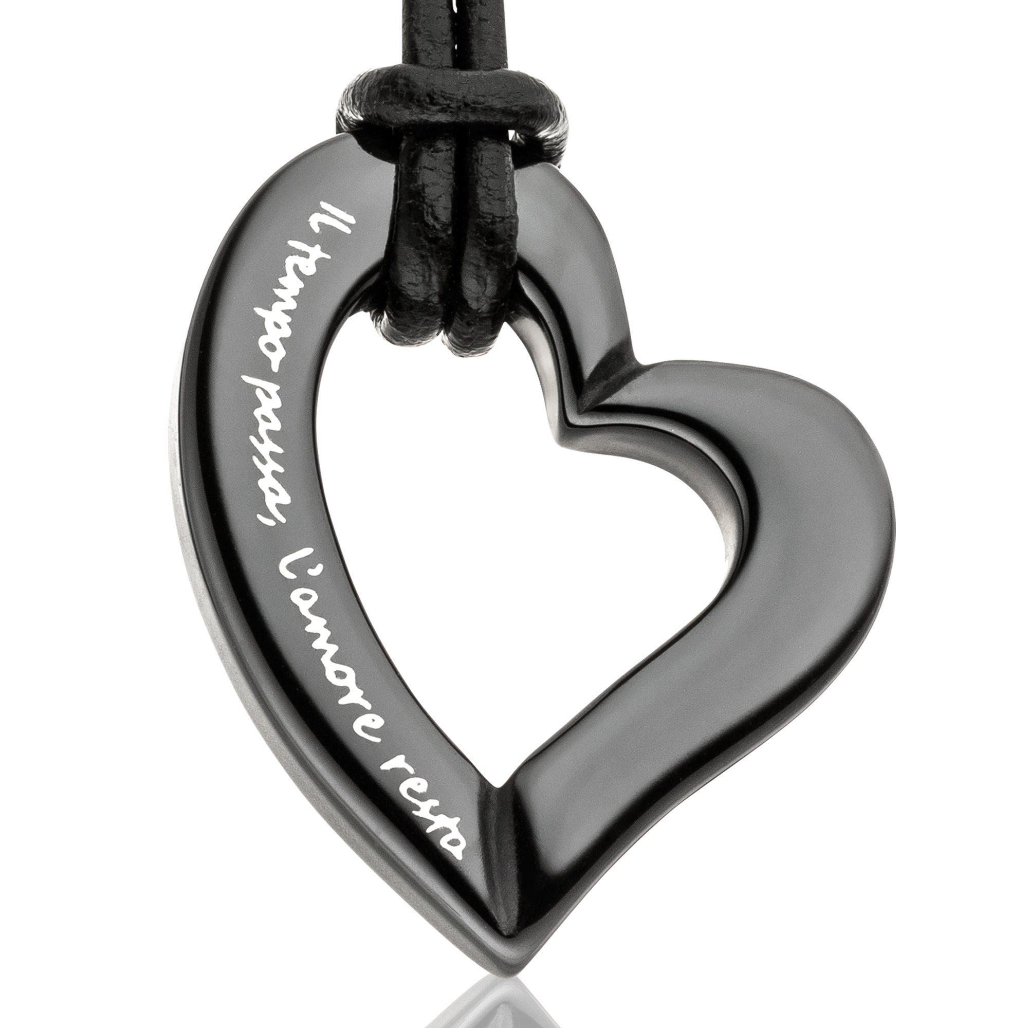 Gilardy Anhänger mit Kette »Keramik Herz Black« | Schmuck > Halsketten > Herzketten | Weißgold | Gilardy