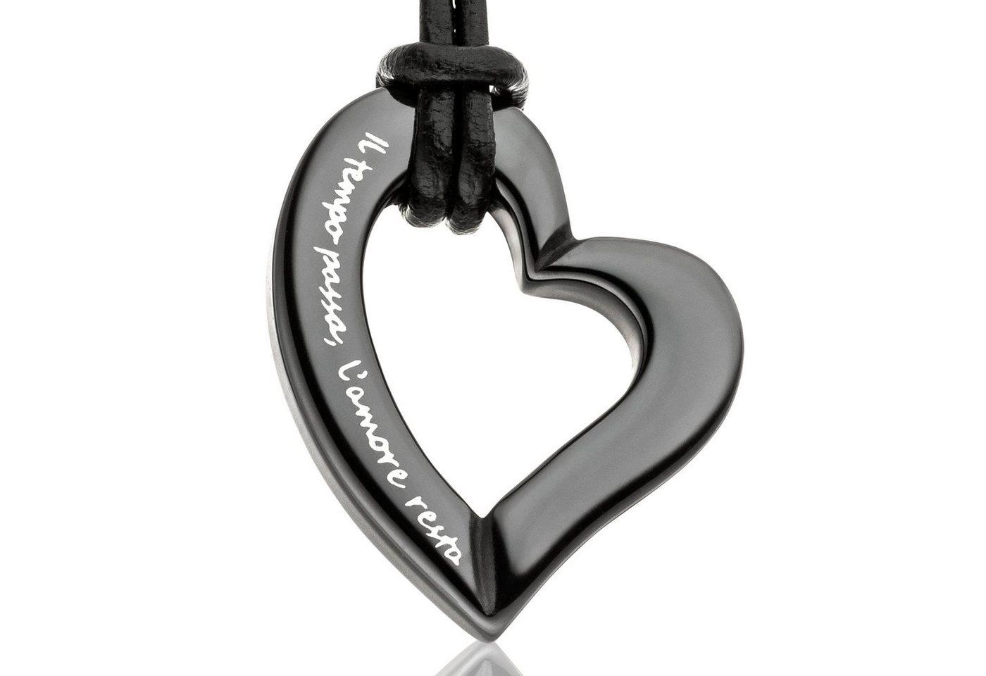Gilardy Anhänger mit Kette »Keramik Herz Black«   Schmuck > Halsketten > Herzketten   Schwarz   Gilardy