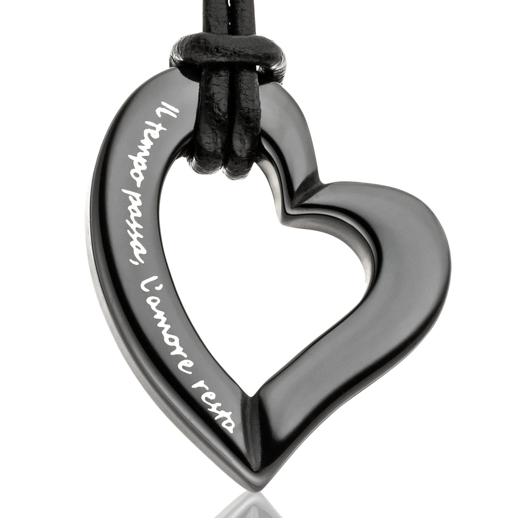 Mit Gilardy Kette »keramik Black« Herz Anhänger XiuPlwkOZT