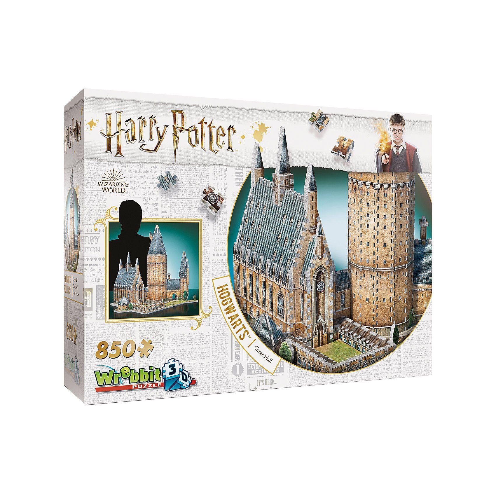 Wrebbit 3D Puzzle 850 Teile Harry Potter Hogwarts - Große Ha