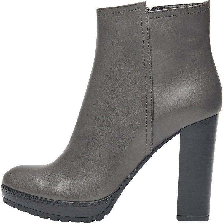 PoiLei Sam High-Heel-Stiefelette, mit feinen Ziernähten online kaufen  grau