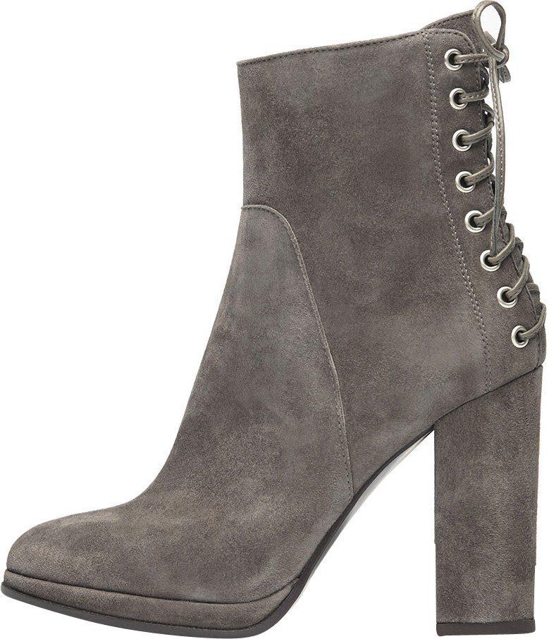 PoiLei »Fiona« High-Heel-Stiefelette, mit eleganter Schnürung, schwarz, EURO-Größen, schwarz