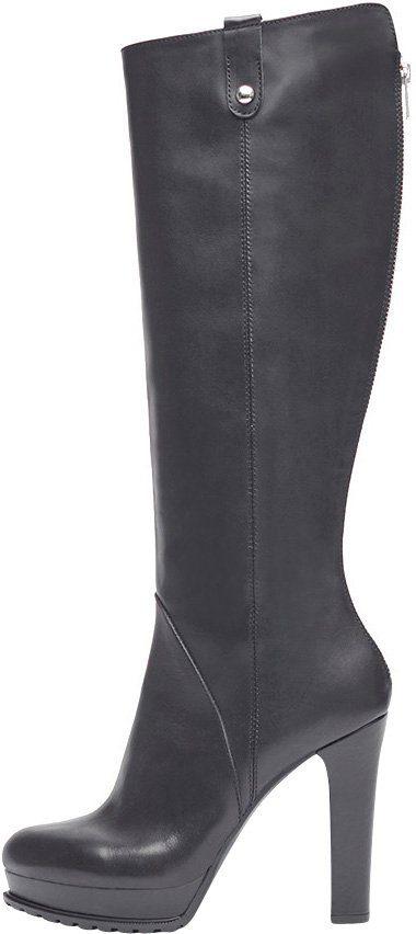 PoiLei »Megan« High-Heel-Stiefel, mit stylischem rückseitigem Reißverschluss, braun, EURO-Größen, braun