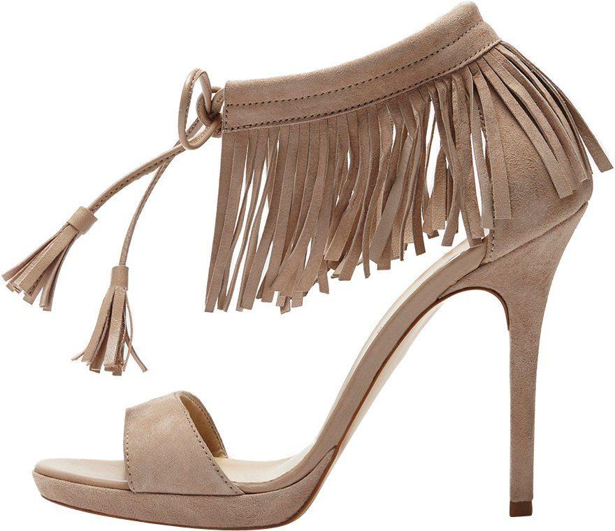 PoiLei »Fenja« High-Heel-Sandalette, im angesagten Boho Stil, braun, taupe