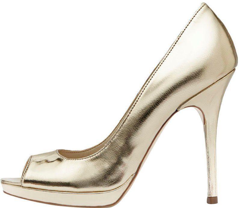PoiLei Mira Peeptoepumps, mit extravaganter Form  goldfarben