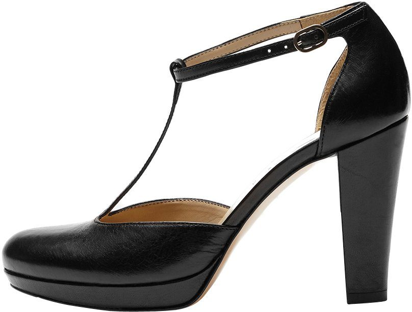 PoiLei Bonnie T-Strap Pumps, in klassischem modernem Design online kaufen  schwarz