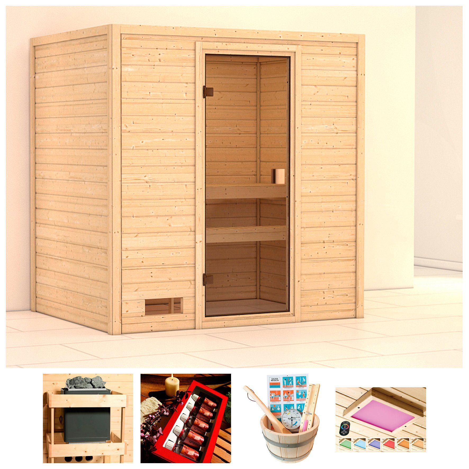KARIBU Sauna »Daggie«, BxTxH: 196x146x187 cm, ohne Ofen