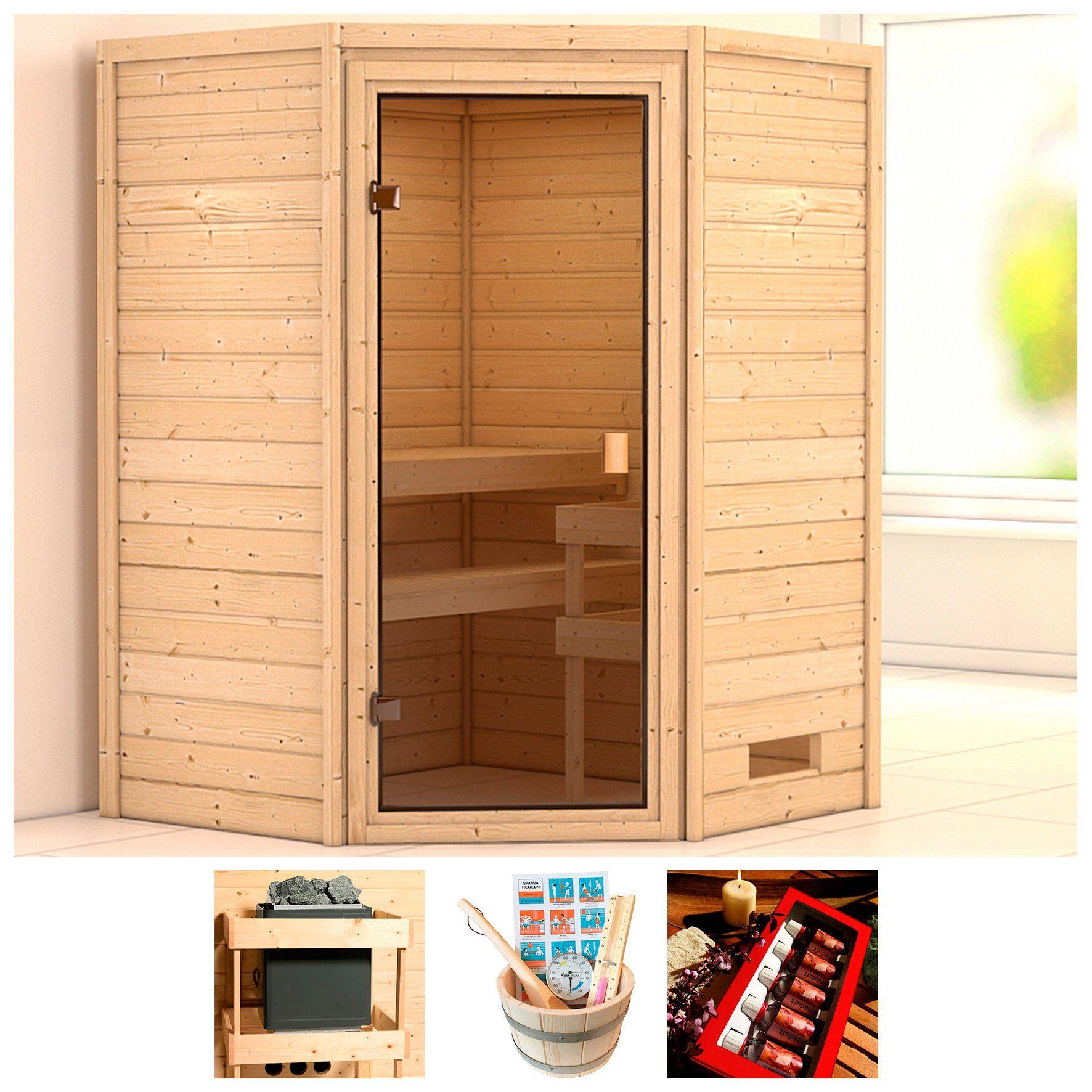 KARIBU Sauna »Wangerooge«, BxTxH: 146x146x187 cm, ohne Ofen
