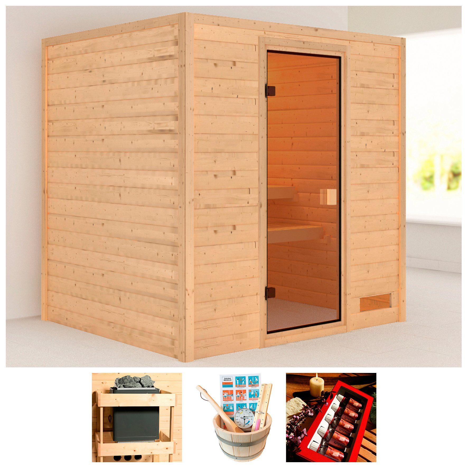 KARIBU Sauna »Wangerooge«, BxTxH: 196x170x187 cm, ohne Ofen