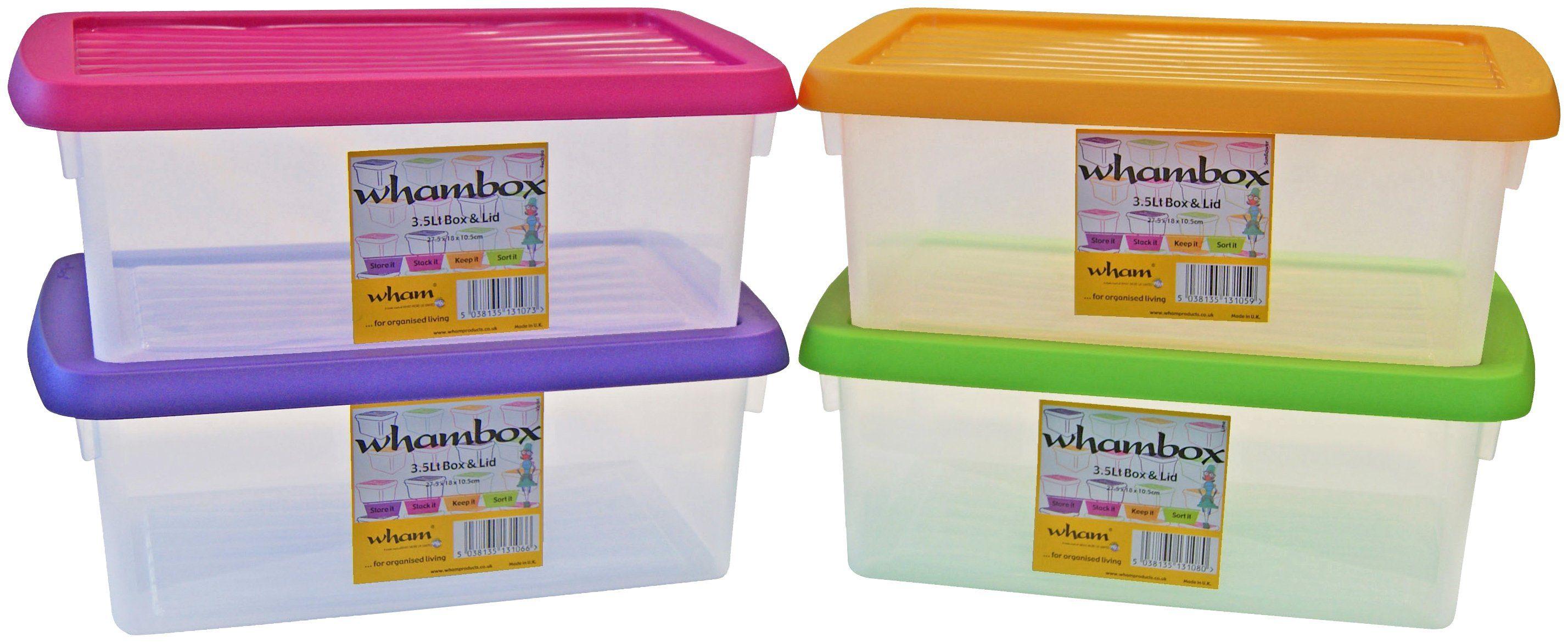WHAM Set: Aufbewahrungsbox »Whambox«, 4er-Set, je 3,5 l