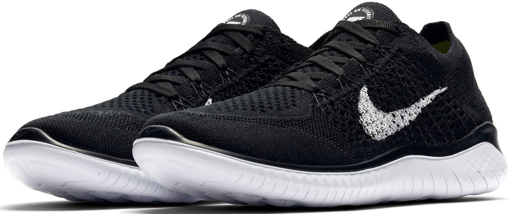 Nike Wmns Free Rn Flyknit Laufschuh kaufen  schwarz-weiß