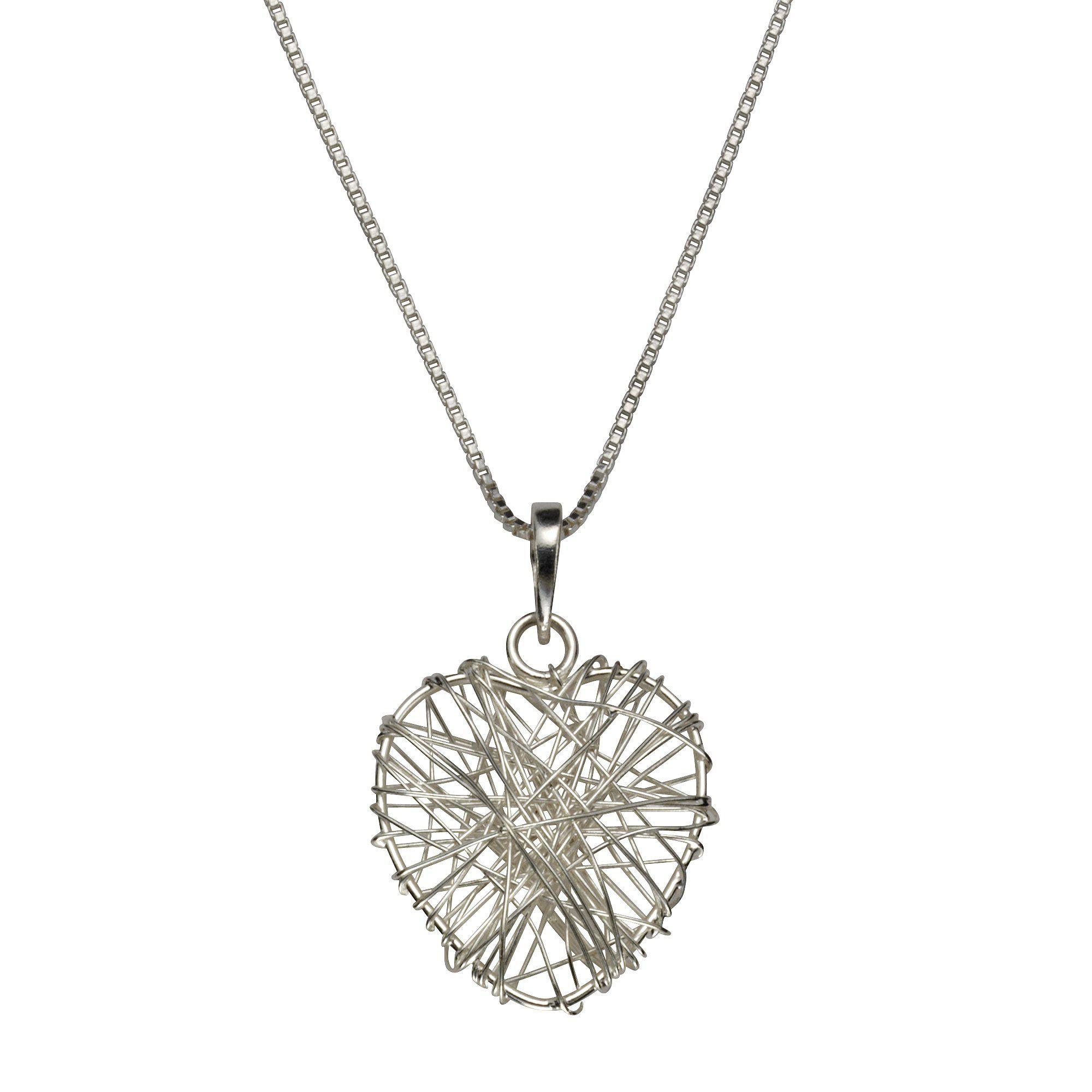 Zeeme Collier »925/- Sterling Silber rhodiniert Herz«