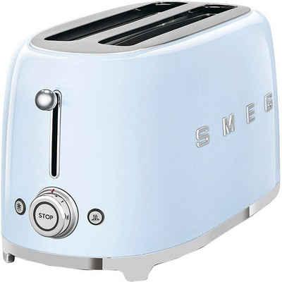 Smeg Toaster TSF02PBEU, 2 lange Schlitze, für 2 Scheiben, 1500 W