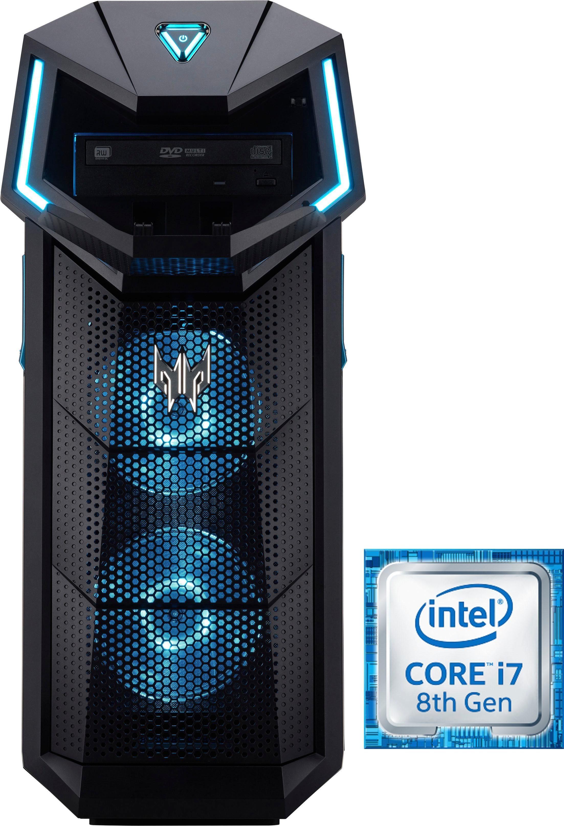 Acer Predator Orion 5000 DG.E0SEG.011 Gaming-PC (Core i7, GTX 1070 Ti, 16 GB RAM, 1000 GB HDD, 128 GB SSD)