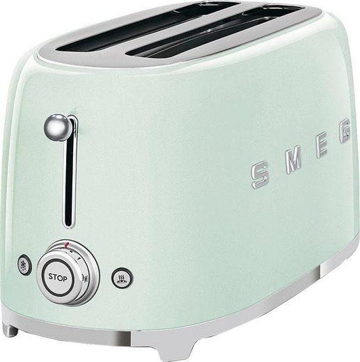 Smeg Toaster TSF02PGEU, 2 lange Schlitze, für 2 Scheiben, 1500 W